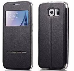 Чехол книжка liviace G935 Samsung Galaxy S7 сенсорная полоска для ответа вызова Черный (acf_00279)