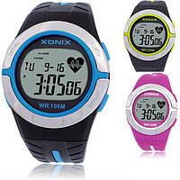 Часы спортивные для дайвинга Xonix HRM2 с пульсометром. Водозащита 100м. Цвета: зеленый розовый синий (acf_00280)