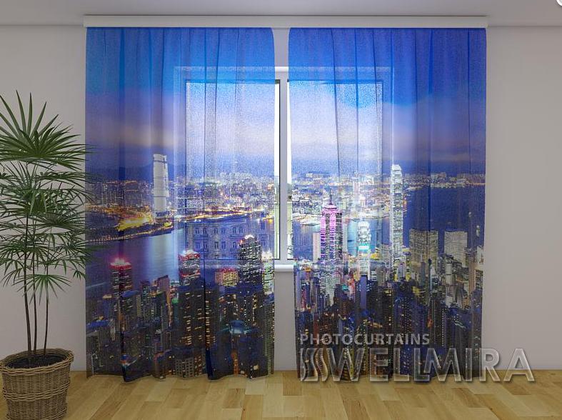 Тюль з малюнком Гонконг 250 см х 260 см