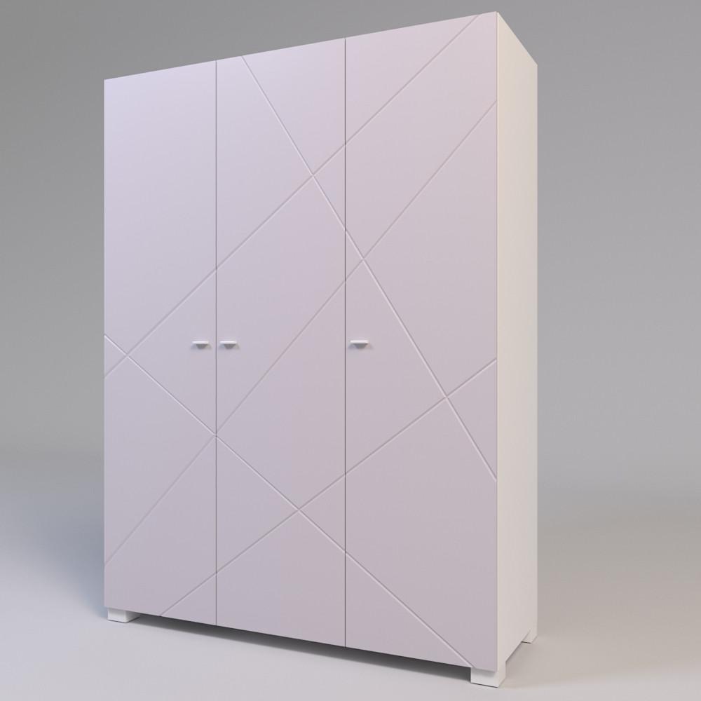 Шкаф трехдверный Х-Скаут Х-27 пудрово-розовый мат