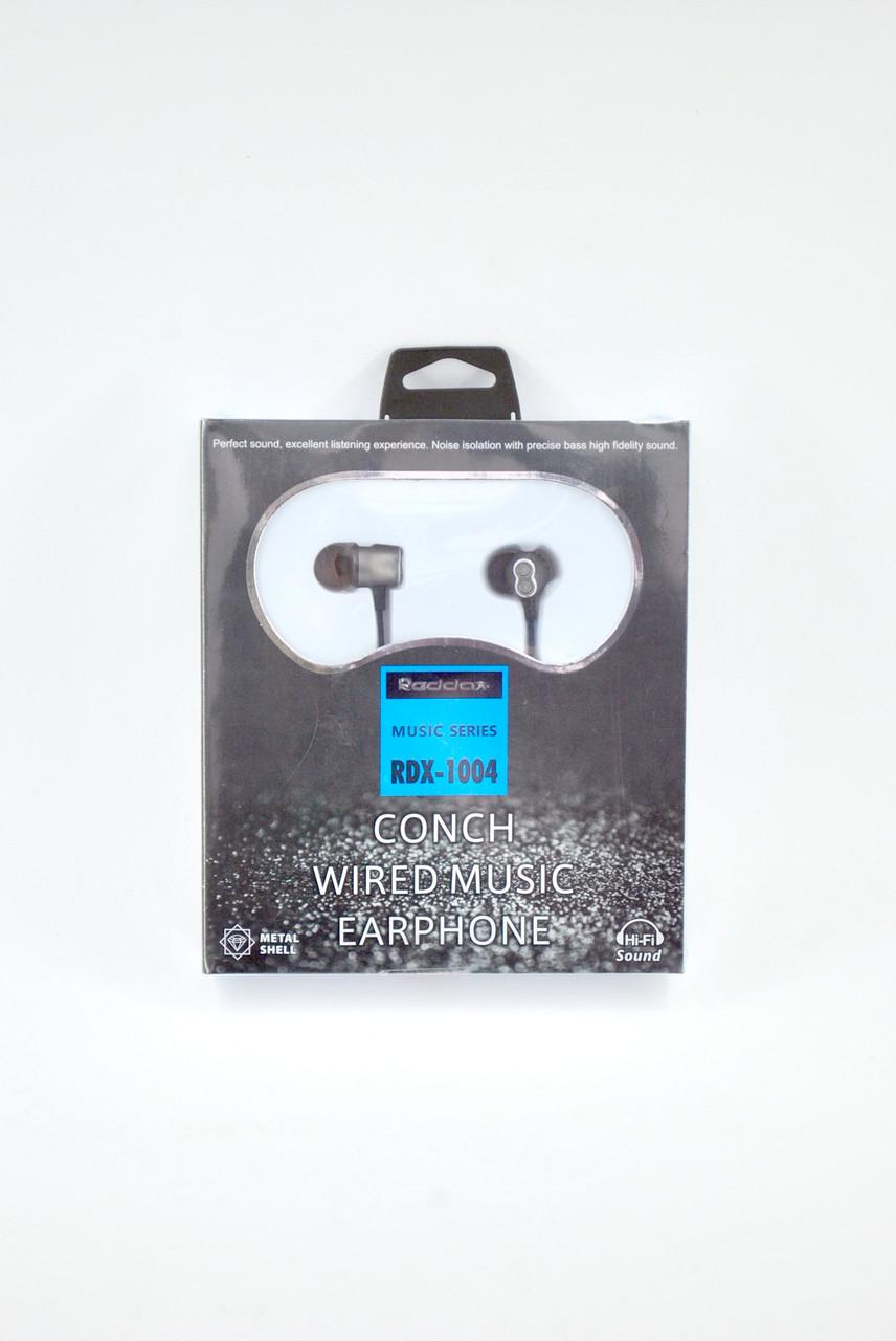 Навушники провідні Reddax RDX-1004 (сілікон.оплетка, круглий шнур) Bronze