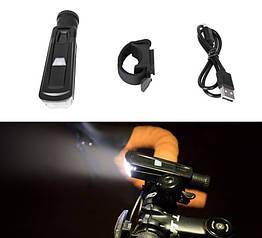 Светодиодная велосипедная влагозащищенная фара / фонарь с зарядкой USB COOLOH