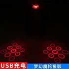 Подседельная диодная мигалка / фонарь / габарит с лазерной проекцией IoRuter CS-088 с зарядкой USB (3 модели), фото 4