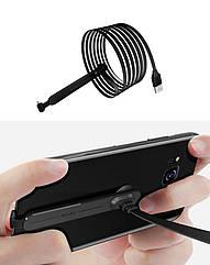 Игровой эргономичный USB-кабель «лапша»TYPE-C для зарядки смартфона WSKEN (с присоской, 1 / 2 м)