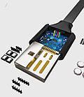 Игровой эргономичный USB-кабель «лапша»TYPE-C для зарядки смартфона WSKEN / BENKS (с присоской, 2 м), фото 6