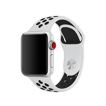 Ремешок для Apple Watch 42/44 Nike Sport белый с черным