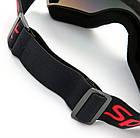 Горнолыжная гибкая легкая широкая ударопрочная маска-очки с UV защитой для мото / вело, фото 6