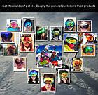 Горнолыжная гибкая легкая широкая ударопрочная маска-очки с UV защитой для мото / вело, фото 8