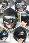 Горнолыжная гибкая легкая широкая ударопрочная маска-очки с UV защитой для мото / вело, фото 9