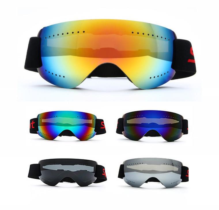 Ультралёгкая горнолыжная гибкая ударопрочная маска-очки с UV защитой и для мото / вело