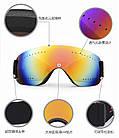 Ультралёгкая горнолыжная гибкая ударопрочная маска-очки с UV защитой и для мото / вело, фото 4