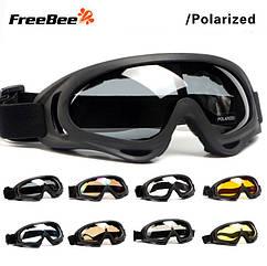 Вело / мото / спортивная / горнолыжная / лыжная солнцезащитная маска с поляризацией «Free bee» DX400
