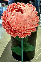 Пион-светильник розовый на стойке. Большие ростовые цветы из изолона.