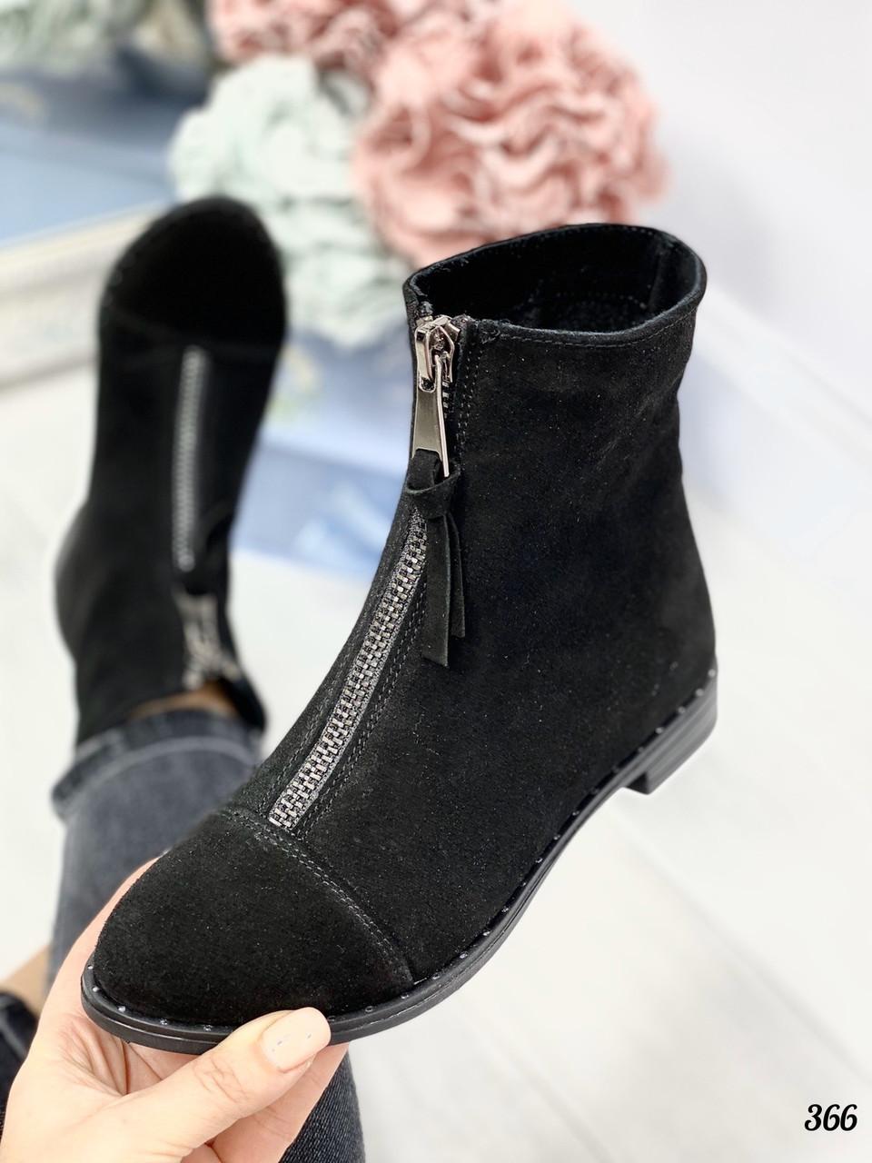 39 р. Ботинки женские деми черные замшевые на низком ходу,демисезонные,из натуральной замши,натуральная замша