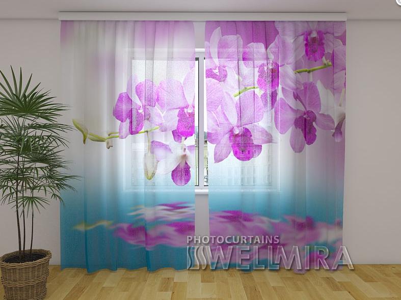 Тюль з малюнком Орхідея Вів'єн 250 см х 260 см
