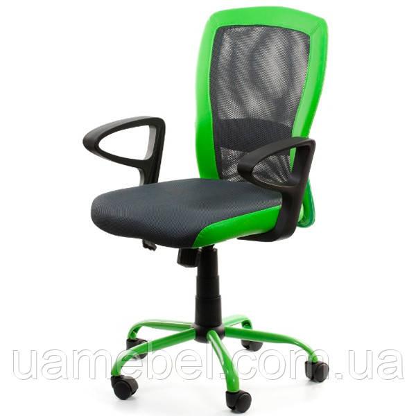 Крісло офісне LENO Grey-Green 27784