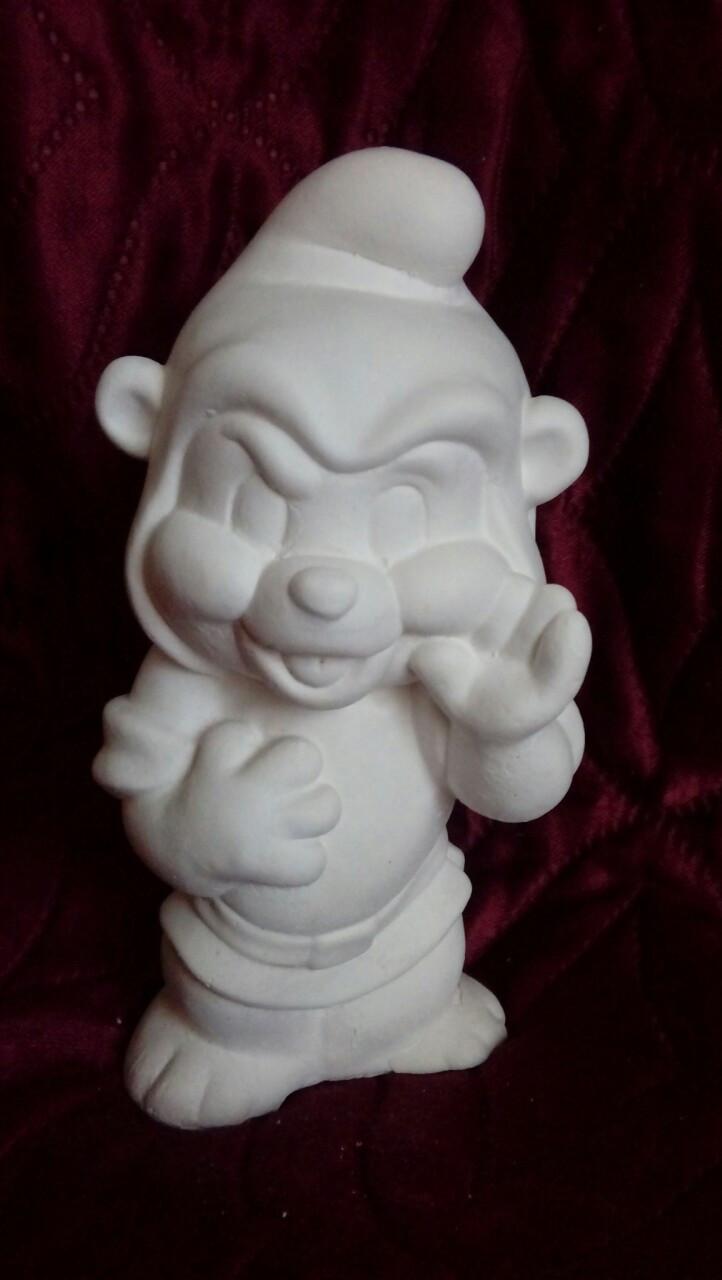 Гіпсова фігурка для розмальовки. Гипсовая фигурка для раскраски. Ведмедик Гаммі   (14 см)
