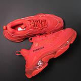 Кроссовки Balenciaga Triple S Full Red, фото 3