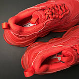 Кроссовки Balenciaga Triple S Full Red, фото 8