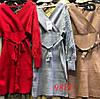Женственное трикотажное платье с поясом 42-46 (в расцветках), фото 4