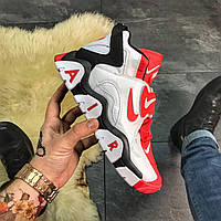 Кроссовки Nike Air Max Barrage White Red, фото 1
