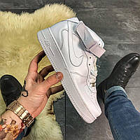 Nike Air Force 1 High Triple White, фото 1