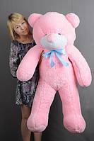 """Мягкая игрушка плюшевый мишка """"Нестор"""" розовый большой 120см"""