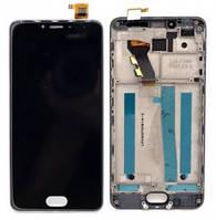 Дисплей Meizu M3s с сенсором (тачскрином) и рамкой черный