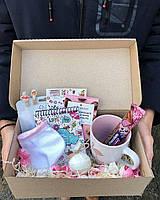 Бокс подарочный для девушек розовый / Бокс подарунковий для дівчини рожевий