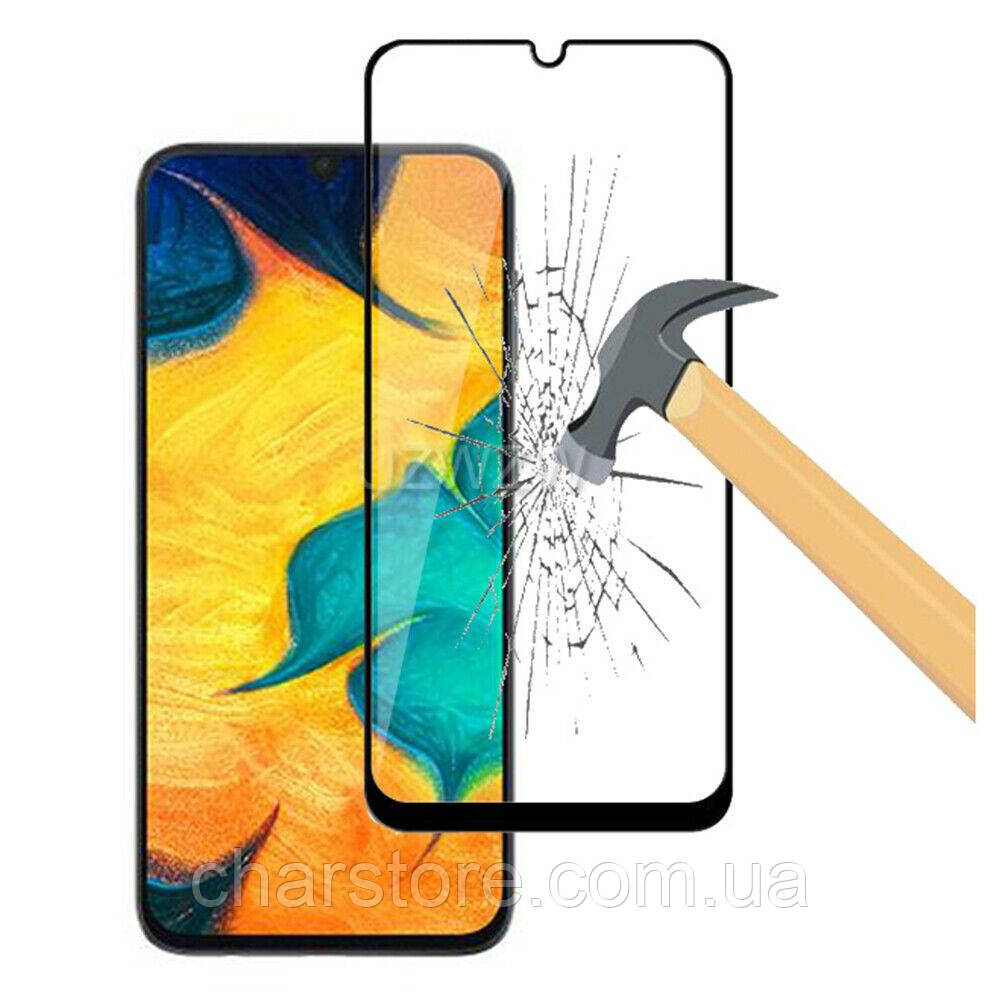 Защитное стекло для Samsung Galaxy A90 плотность 9H черный