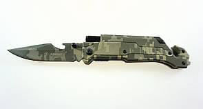 Нож складной для выживания и туризма Kandar N-352 6 в 1 огниво стропорез на магните стеклобой (acf_00379)