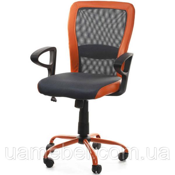Кресло офисное LENO, Grey-Orange 27783