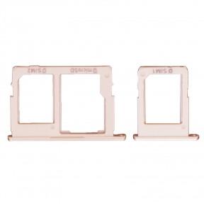 Держатель Sim-карты и карты памяти Samsung G570F Galaxy J5 Prime (2016), G610 розовый, комплект 2 шт