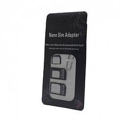 Набор адаптеров (комплект переходников) NS18A для Nano/Micro SIM-карты
