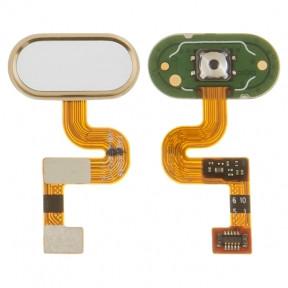 Шлейф Meizu E2 с кнопкой меню (Home) золотистого цвета