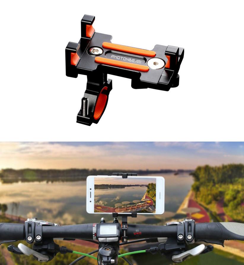 """Металлическое крепление на руль / держатель для телефона (смартфона) BM03 65 - 98 мм / ~ 4.7"""" - 7"""""""