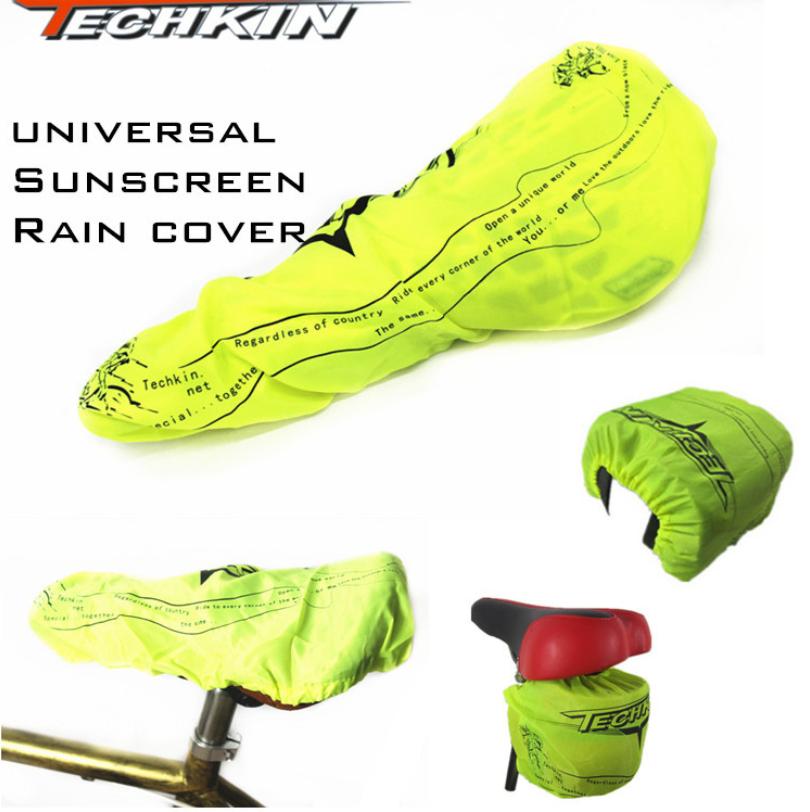 """Універсальний захисний водотривкий чохол / накидка від дощу на сідло або велосумку на резинці ТМ """"TECHKIN"""""""
