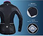 Непродуваемая непромокаемая тёплая мужская / женская вело-куртка на флисе Sobike «DUCATI» (S-3XL), фото 3