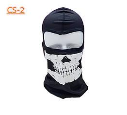 Легкая вентилируемая балаклава / подшлемник / маска лыжная / горнолыжная с черепом