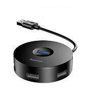 USB-хаб HUB Baseus Round Box USB to USB 3.0 + 3USB 2.0 black