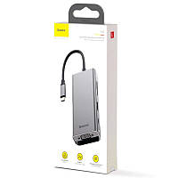 USB-хаб HUB Baseus Square Desk Type-C Multi-functional (Type-C to USB3.0*3+HD4K*1+USB-C(PD)*1+VGA*1+TF/SD*1)