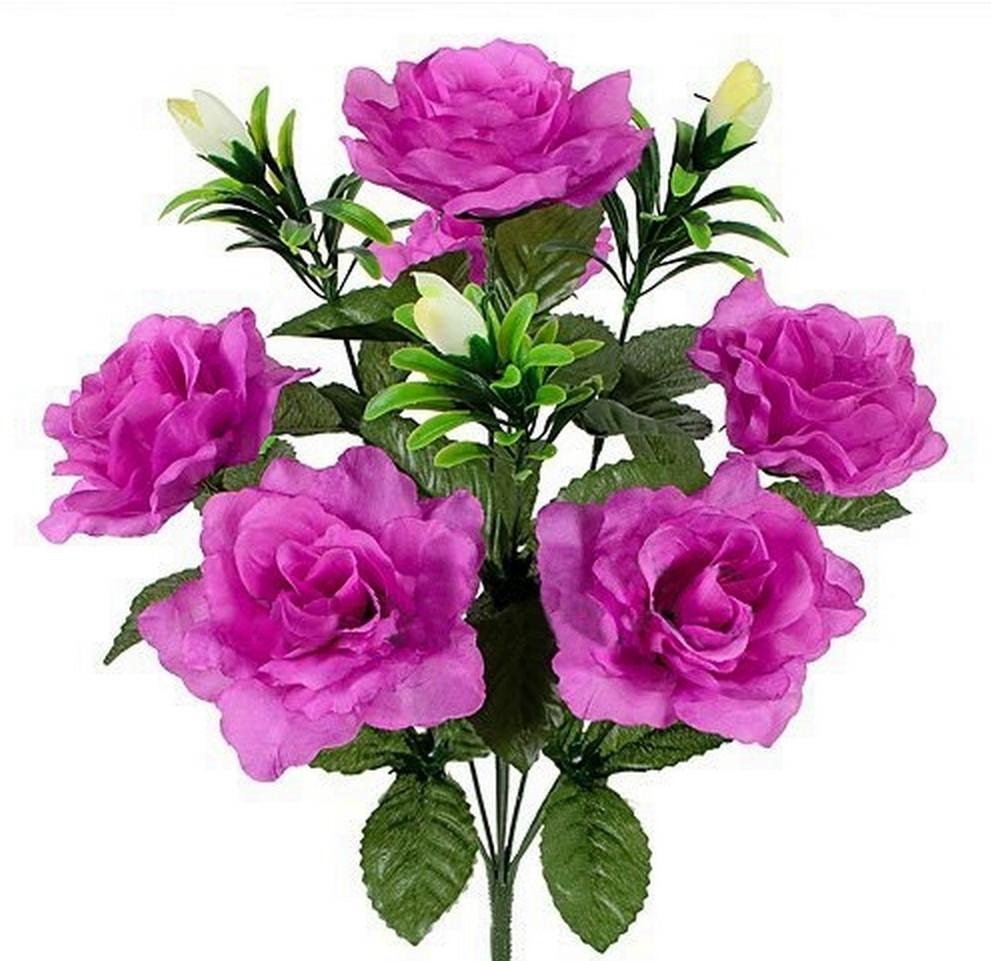 Букет  розы с бутонами, 48см (по 10 шт. в уп.)