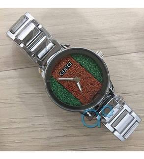 Часы Gucci (Гуччи) Унисекс ( Женские\Мужские)  Черный Браслет, фото 2