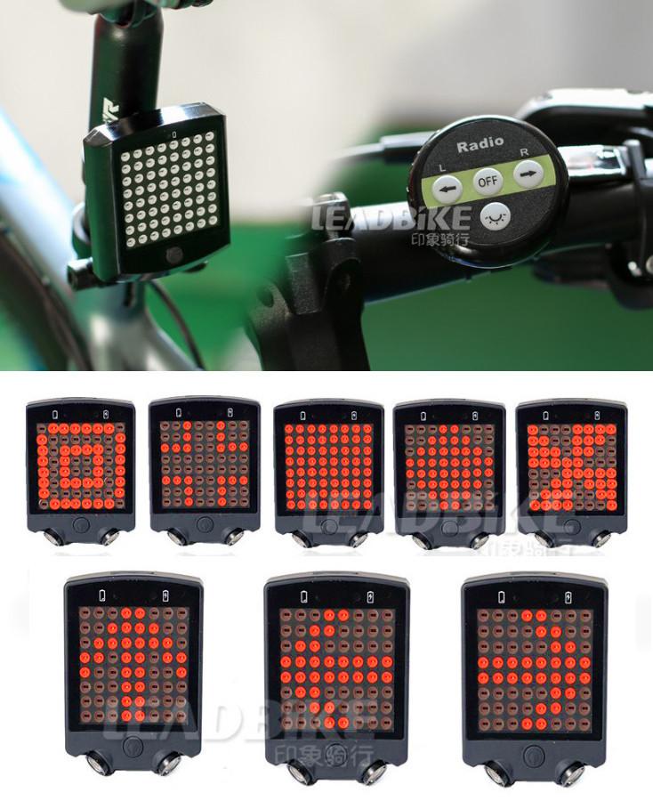 Вело-габарит поворотный 64 LED с беспроводным пультом Д/У LEADBIKE LD-24