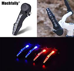 Діодна мигалка / вело-габарит / поворотники «ріжки» з габаритами / поворотними діодами MACHFALLY