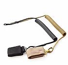 Непотеряйка / тренчик / шнур страховочный тактический витой с карабином и липучкой для оборудования / оружия, фото 2
