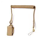 Непотеряйка / тренчик / шнур страховочный тактический витой с карабином и липучкой для оборудования / оружия, фото 3
