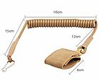 Непотеряйка / тренчик / шнур страховочный тактический витой с карабином и липучкой для оборудования / оружия, фото 7