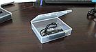 Контейнер / коробка пластиковая прозрачная JUWEI 103*86*27 для хранения мелочей и аксессуаров, фото 3