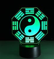 Светильник 3D  1102 (Инь-Янь)